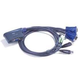 ATEN KVM switch CS-62U USB 2PC mini , audio support, 1,8m