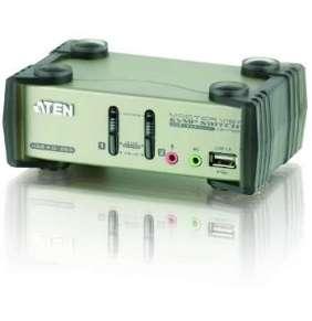 ATEN KVM switch CS-1732BC USB Hub 2PC audio+USB-PS/2
