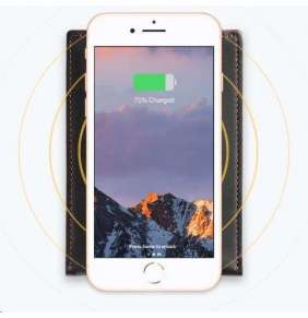 Woolet QI Leather Charging Pad Black