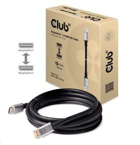 Club 3D DisplayPort 1.4 HBR3 8K60Hz Cable M/M 4m, silver plug