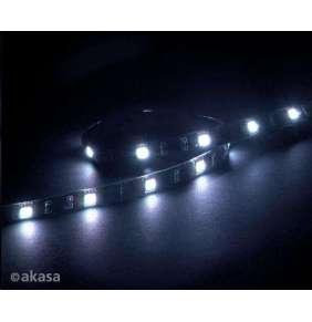 AKASA LED pásek Vegas M / AK-LD05-50WH / 15x LED / 10x magnet / 12V / 50cm / 4-pin / bílý
