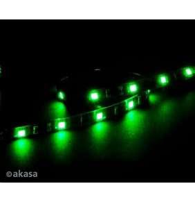 AKASA LED pásek Vegas M / AK-LD05-50GN / 15x LED / 10x magnet / 12V / 50cm / 4-pin / zelený