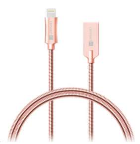 CONNECT IT Wirez Steel Knight Lightning - USB, metallic rose-gold, 2,1A, 1 m