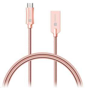 CONNECT IT Wirez Steel Knight Micro USB - USB, metallic rose-gold, 2,1A , 1 m