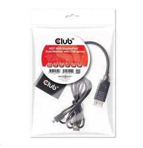 Club3D Video hub MST (Multi Stream Transport) DisplayPort na 2x DisplayPort, USB napájení