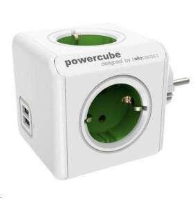 Powercube Original USB Green Schuko