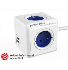 Allocacoc PowerCube Extended USB Blue (1,5m)