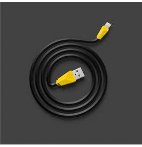REMAX datový kabel ALIEN, micro USB, 1m dlouhý, barva černožlutá