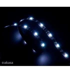AKASA LED pásek / AK-LD02-05WH / 15xLED / 12V / 600mm / samolepící / bílá