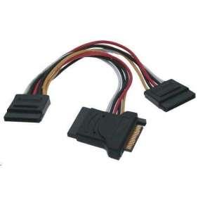 PREMIUMCORD Kabel SATA napájecí (Y) k HDD (3xF/1xM, 16cm, rozdvojka)