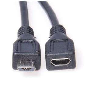 PremiumCord Kabel prodlužovací micro USB 2.0 male-female, černý 3m