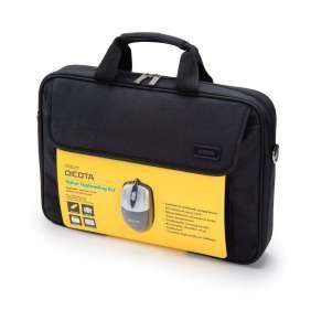 """DICOTA brašna na notebook Value Toploader Kit/ do 15,6""""/ černá + myš"""