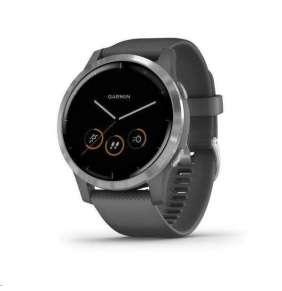 GARMIN chytré sportovní GPS hodinky vívoactive4 Silver/Gray Band