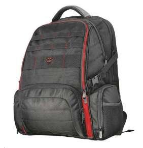 """Trust GXT 1250 Hunter Gaming batoh / herní / pro notebooky do 17,3"""" / oddíly pro příslušenství / vodotěsný obal / černý"""