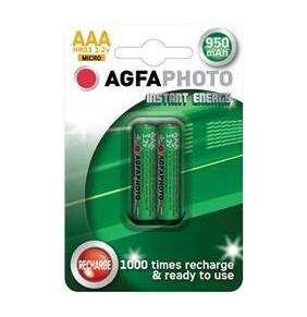 AgfaPhoto prednabité batérie 1.2V, AAA, 950mAh, blister 2ks