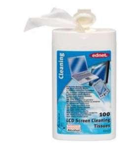 Ednet. - 100 vlhčené čistící ubrousky na TFT obrazovky, notebooky a ploché obrazovky