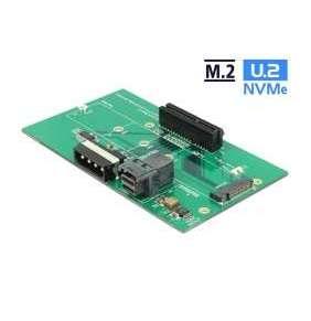 Delock U.2 SFF-8643 adaptér na PCIe x4 nebo slot M.2 key M s upevňovací deskou