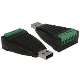 Delock Konvertor z USB Typ-A na svorkovnici sériového rozhraní RS-422/485 s přepěťovou ochranou 600 W, izolace 2,5 kV, p