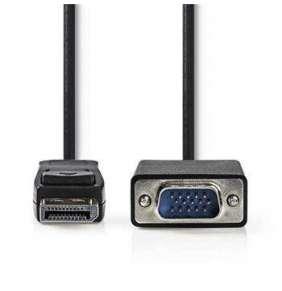 Nedis CCGP37300BK20 - DisplayPort – VGA Kabel | DisplayPort Zástrčka - VGA Zástrčka | 2 m | Černá barva