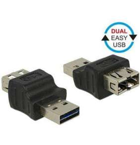 Delock Adapter EASY-USB 2.0 Type-A male   EASY-USB 2.0 Type-A female