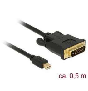 Delock Kabel mini Displayport 1.1 samec   DVI 24+1 samec 0,5 m