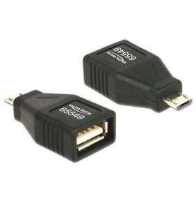 Delock Adapter USB micro-B samec   USB 2.0-A samice OTG, celý v pouzdru