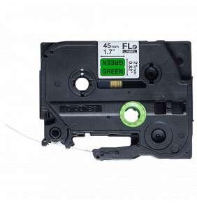 BROTHER praporky nelaminované FLE7511 / černá-zelená / 21mm