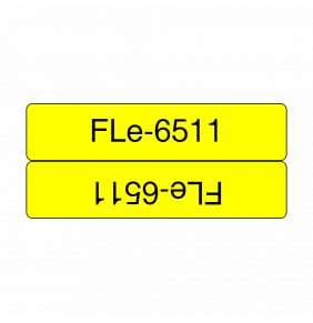 Brother - FLE6511, černá / žlutá (24mm, nelaminovaný praporek)