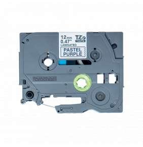 Brother - TZe-MQF31 pastelová purpurová / černá (12mm, 4m)