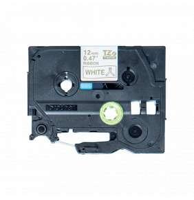 Brother - TZe-R234 bílá / zlatá (12mm, 4m, pruhovaná)