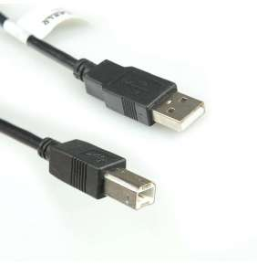 4World Kabel USB 2.0 AM-BM 5.0m Black