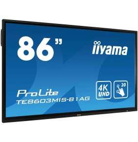 "86"" iiyama TE8603MIS-B1AG: IPS, 4K, 350cd/m2, 24/7, iiSignage, WiFi, 2x Touch Pen, HDMI, VGA, DP,USB"