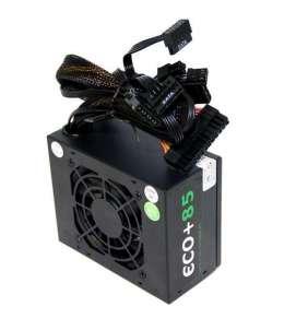 EUROCASE zdroj micro SFX-250WA-8-85, black box, flat cables, 20+4pin, 4pin, fdd, 2x SATA, 2x molex
