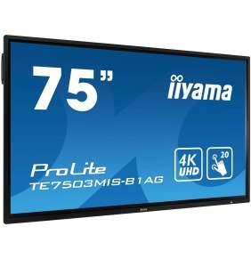 "75"" iiyama TE7503MIS-B1AG: IPS, 4K, 350cd/m2, 24/7, iiSignage, WiFi, 2x Touch Pen, HDMI, VGA, DP,USB"