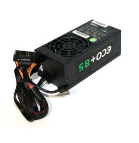 EUROCASE zdroj TFX 250WA-8-85, black box, flat cables, 20+4pin,4pin, fdd, 2xSATA,1x molex