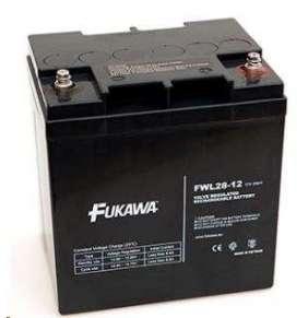 akumulátor FUKAWA FWL 28-12 (12V  28Ah  závit M5  životnost 10let)