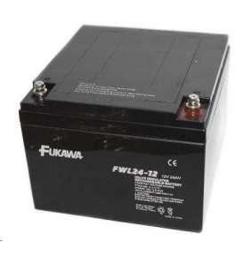 akumulátor FUKAWA FWL 24-12 (12V  24Ah  závit M5  životnost 10let)