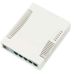 Mikrotik RB260GS nastav. 5x Gbit + 1xSFP switch
