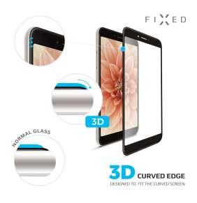 3D sklo FIXED iPhone X/XS/11 Pro, plné lepení,černé