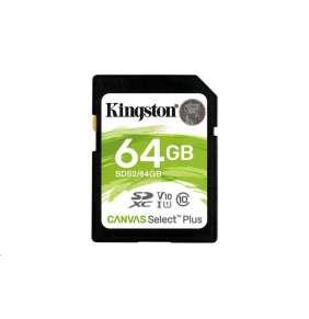 Kingston 64GB SecureDigital Canvas Select Plus (SDXC) 100R Class 10 UHS-I