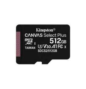 Kingston 512GB micSDXC Canvas Select Plus 100R A1 C10 - 1 ks