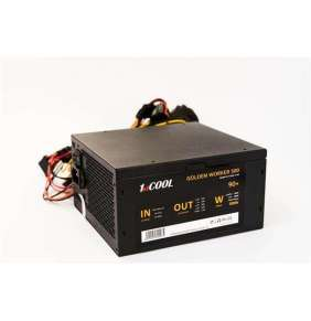 Zdroj 500W 1stCOOL GOLDEN WORKER 500, účinnosť 90+, 14cm ventilátor, bulk
