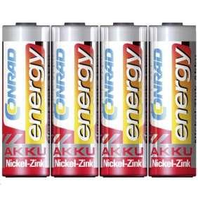 CONRAD energy, NiZn , AA, 1500 mAh, 1,6 V, 4 ks