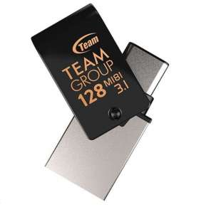 TEAM Flash Disk 128GB M181, USB 3.1, USB-C (R:90/W:35 MB/s) černá
