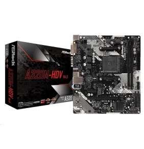 ASRock A320M-HDV R4.0/ A320 / AM4 / 2x DDR4 DIMM / 1x M.2 / HDMI / DVI-D / D-Sub / mATX