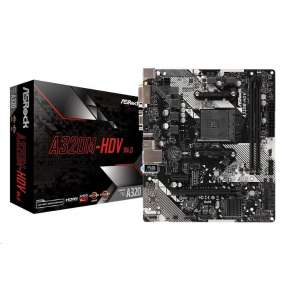 ASRock MB Sc AM4 A320M-HDV R4.0, AMD A320, 2x DDR4, VGA, mATX