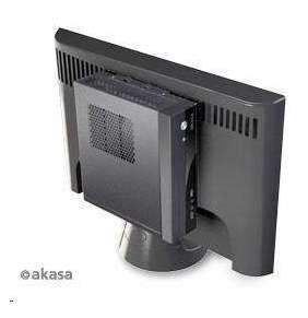 AKASA case Crypto VESA, MiniITX, černá + 80W AC adaptér