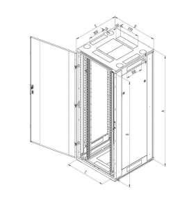 Stoj.rack RTA 42(š)800x(h)1000 před.i zad.dv.perf.