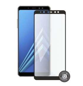 Screenshield ochrana displeje Tempered Glass pro SAMSUNG A530 Galaxy A8 (2018) (full cover), černá