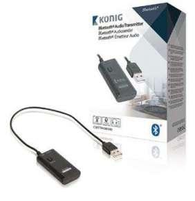 König CSBTTRNSM100 - Bluetooth audio vysílač, Jack 3.5 mm, černá